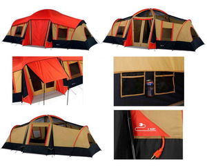 10-Person 3-Room Vacation Tent with Built-In Mud M