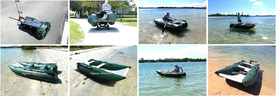 11' Inflatable Mini Catamaran CNC330_Lightweight_Customer's Photos