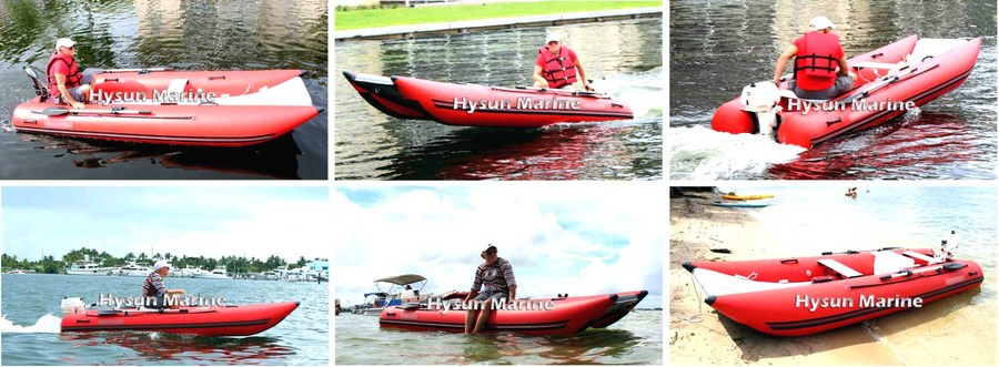 CNC360 Inflatable Catamaran Customers' Photos